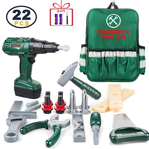ORRENTE Kids Tool Set Deluxe Power Toy with Motion Function