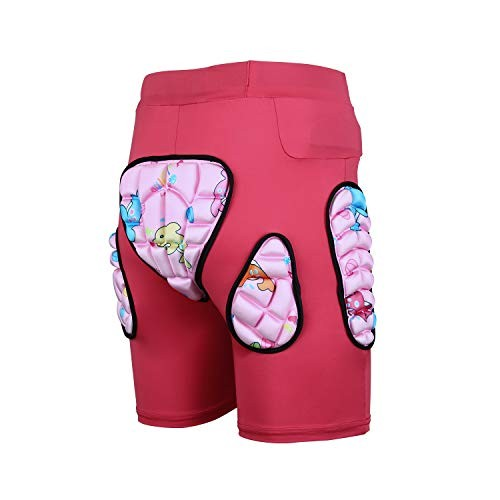 Kids Protection Hip 3D Padded Shorts Pants Breathable Lightweight Protective Gear for Ski Skate