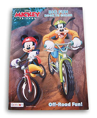 Mickey Mouse Goofy & Friends Fun Coloring Activity Book Coloring Sheets Mazes Puzzles Scrambles Word Finds Off-Road Fun- 96 Pages