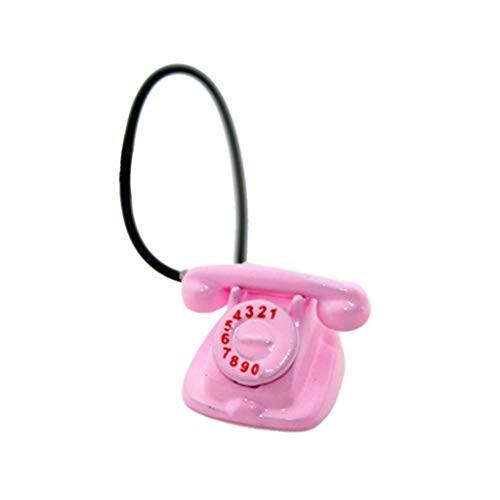 vegan 1:6 1:12 Scale Mini Telephone with Rotary Dial Doll House Miniature Decor Dollhouse
