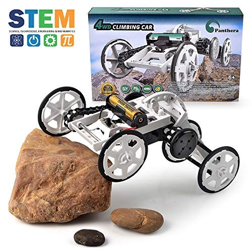 Panthera Grp 4WD Climbing Car Building Toys for Kids – Science Engineering Buildings Educational Electronic Game Boys & Girls Age 8+
