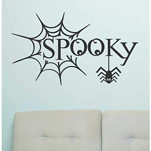 zrisic Wall Stickers Halloween Decorate Spooky Spider Web Decal Celebrate Holiday Bedroom Door Wallpaper Kids Gift Decals Vinyl Decor 35x56cm