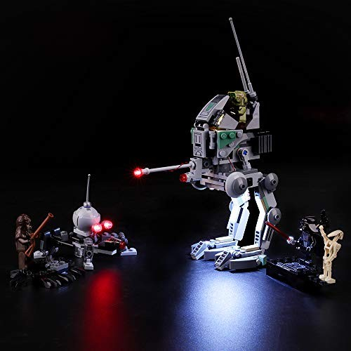 Led Lighting Kit for Clone Scout Walker – Compatible with Lego 75261 Building Blocks Model- Not Include The Set
