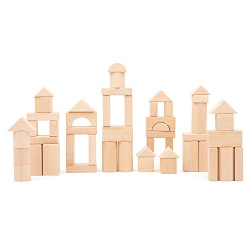 Small Foot Natural Wooden Building Blocks 50 Pieces