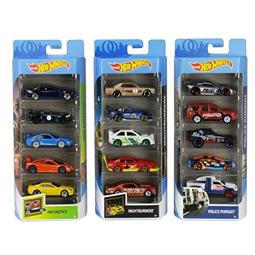 Hot Wheels American 5-Pack 1 64 Scale Die-Cast Cars Collectors of All Ages Premium Graphics Exclusive Great Gift Idea 3 Years and Older Amazon Exclusive