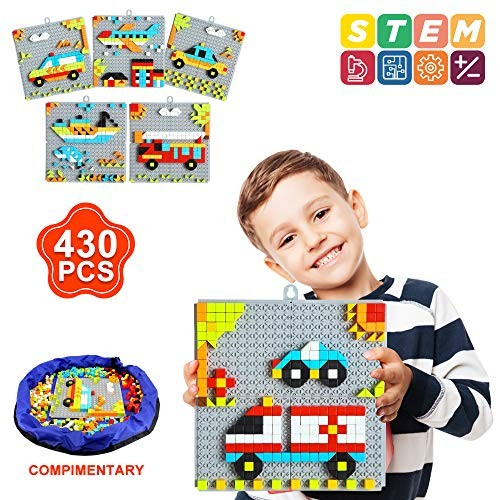 INSOON 6 in 1 STEM Toys Puzzle for Kids 4 5 7 8 Year Old Boys and Girls Pattern Blocks Set Building Age 4-8