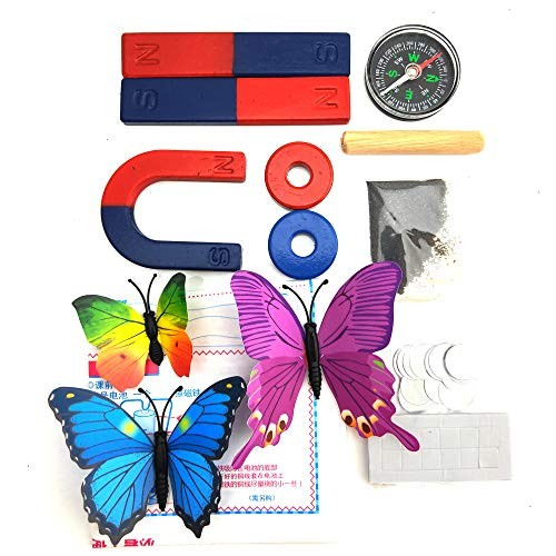 EUDAx Physics Science Magnets Kit for Education Experiment Tools Icluding Bar Ring Horseshoe Compass
