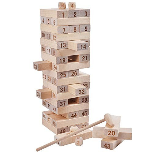 Building Blocks Children's Game – 51 Pieces Wooden Stacked Toys Color 51PCS Size Free Size