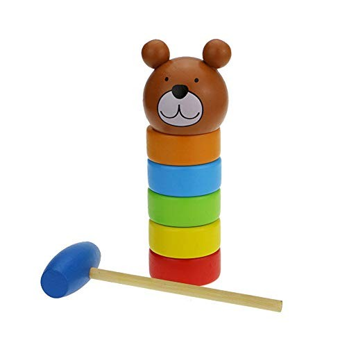 RollingBronze Building Blocks Wooden Toys Puzzle Kids Rainbow Stack Towers Game Science and Education for Children