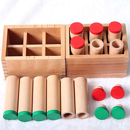 loinhgeo-Children Educational Puzzle Toy Montessori Sensorial Auditory Material Sound Cylinders Box Kids