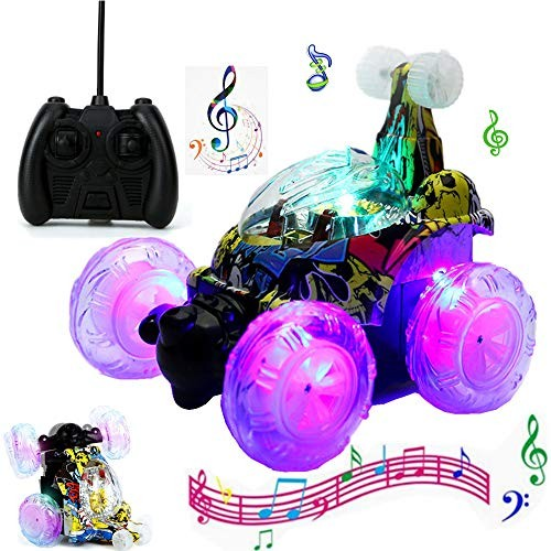 Noetoy Remote Control Car for Boys 360 Flip and Shinning LED LightsRC Vehicle Four