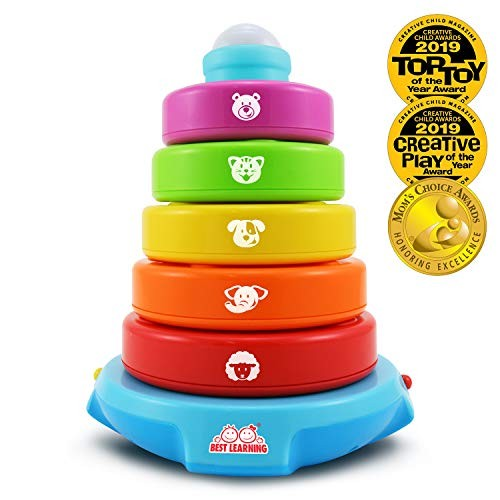 BEST LEARNING Stack & Learn – Educational Activity Toy for Infants Babies Toddlers 6 Month and up Ideal Baby Gifts