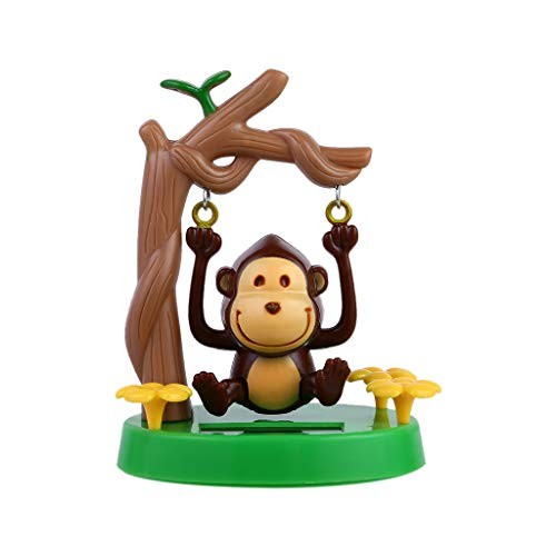 Juesi Solar Powered Dancing Toy Swinging Animated Dancer Car Decoration Bobble Head for Kids Swing Monkey