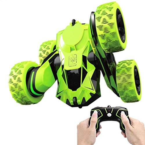 Mioshor RC Stunt Car Toy for KidsRemote Control Double Sided 360 Rotating Deformation Dance