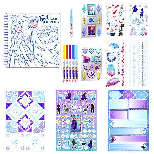 Disney Frozen 2 Elsa + Anna Kids Scrapbook Kit Crafting Art Activity Set w Stickers