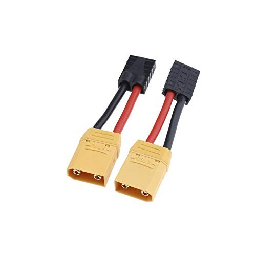 Creative-Idea 2Pcs XT90 Male to Female Connector Adaptor Plug 12AWG with 8cm Cable for