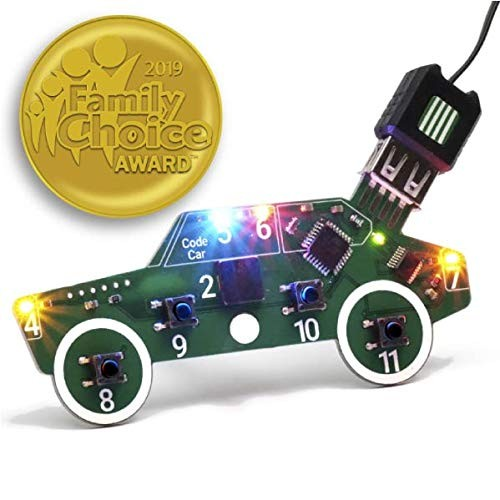 Code Car Circuit Toy for Kids Aged 89101112 to Learn Typed Coding Through Hands-On Electronics and 14 Online Projects