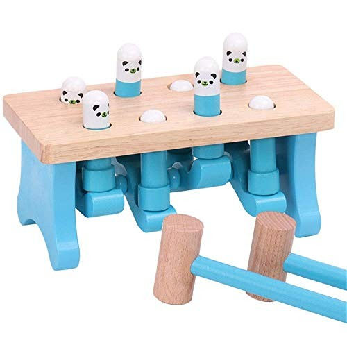 Lcxliga 3-12 Years Old Wooden Hamster Toy Building Blocks Children's Toys for Kids Educational Toys Color Multi-Colored Color Blue