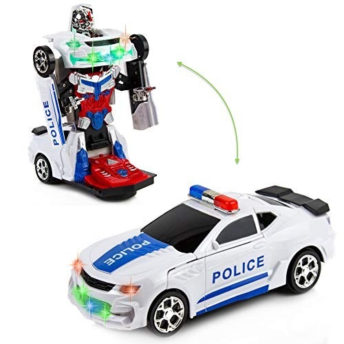 Toytykes Robot Police Car – from to and Vice Versa Comes with Lights Sounds Bump Go Action Great Gift Idea