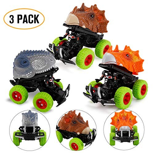 rdwod gift Toys for 3-8 Year Old Boys Dinosaur Toys Pull Back Car for