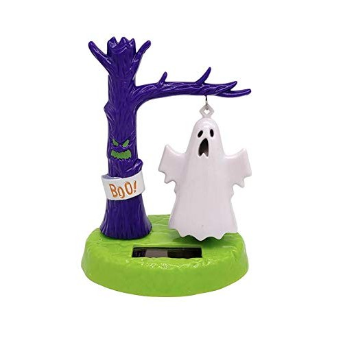 Solar Powered Dancing Toys Swinging Ghost Kids Toy New Shaking Head Doll Creative Car Decoration Jewelry Children's for Halloween Dashboard Office Desk Home Decor