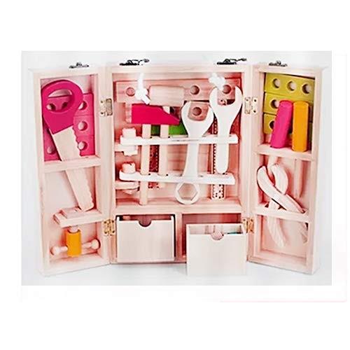 Qiupei Building Blocks and Repair Toy Wooden Tool Carrying Case Children's DIY Carpenter