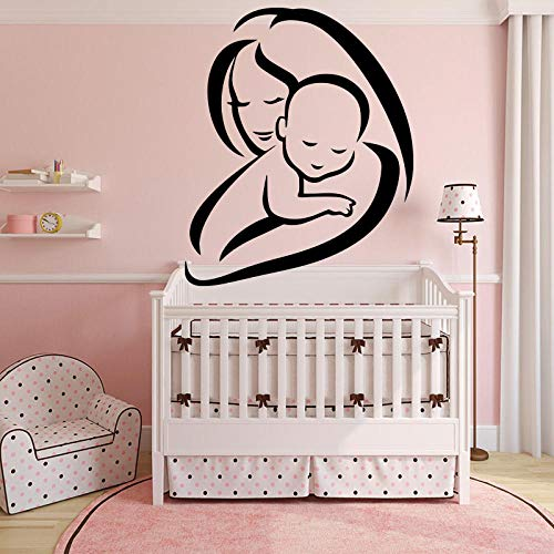 zrisic Wall Stickers Mom and Baby Decal Decor Maternal Love Decorate Baby's Room Decoration Self Adhesive Vinyl Waterproof Art 43x52cm