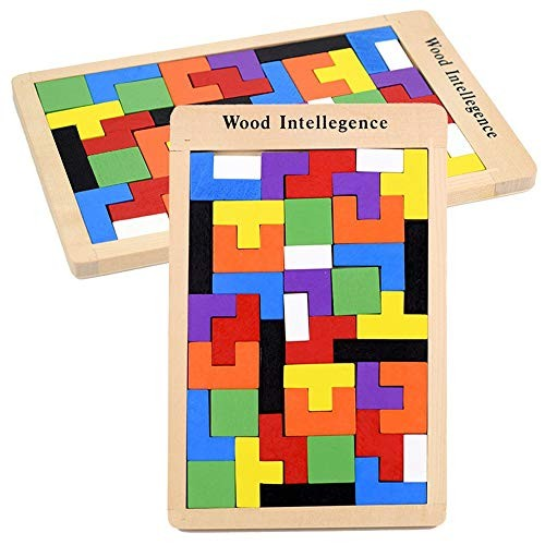 Yuybei-Toy Blocks Children's Educational Wooden Tetris Intelligence Building Early Education for Family kindergartens etc