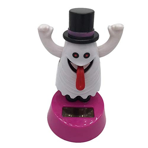 Betfandeful Halloween Solar Dancing Toys Skulls Skeleton Ghost Figures Swinging Animated Bobble Dancer Toy Car Dashboard Decor