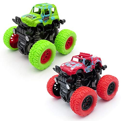 WOCY Monster Trucks Toys for Boys Christmas Party Supplies Birthday Gifts for Kids Friction