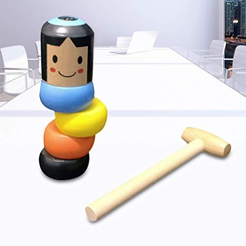 Dharma Tumbler does not fall over the building blocks toys children intelligence development Christmas Halloween magic funny gifts villain can break small wooden man puppet wood people