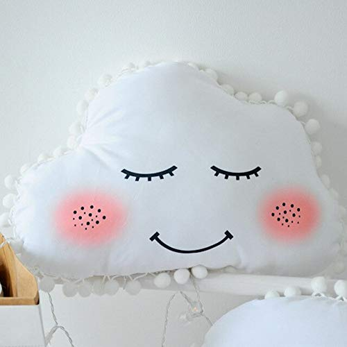 LAJKS Nuvem Ins Smile Cloud Cotton Pillow Soft Washable I Stuffed Moon Star Plush Toys for Children Kids Girl Gift Must Have Gifts Ideas Girls Favourite Characters Superhero Coloring