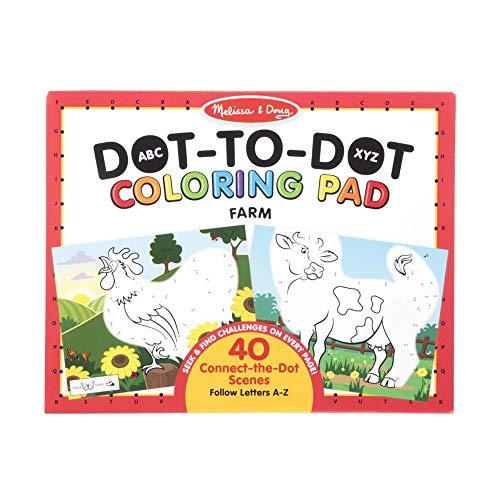 Melissa & Doug ABC Dot-to-Dot Coloring Pad – Farm
