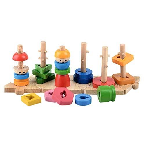 YJYdadaS Geometric Building Blocks Children's Educational ...