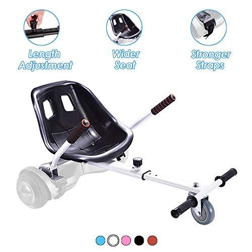 Hishine Hover Kart Hoverboard Seat Attachment for Self Balancing Scooter Adjustable Go Kart Hover