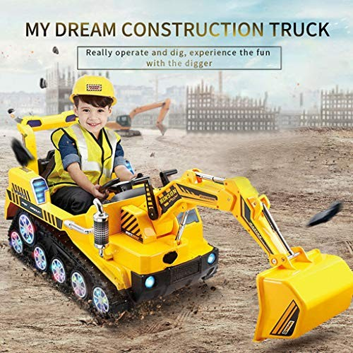Transser- Kids Ride On Construction Excavator [US Stock] FD-2811 24G Bulldozer Shovel Digger Manned