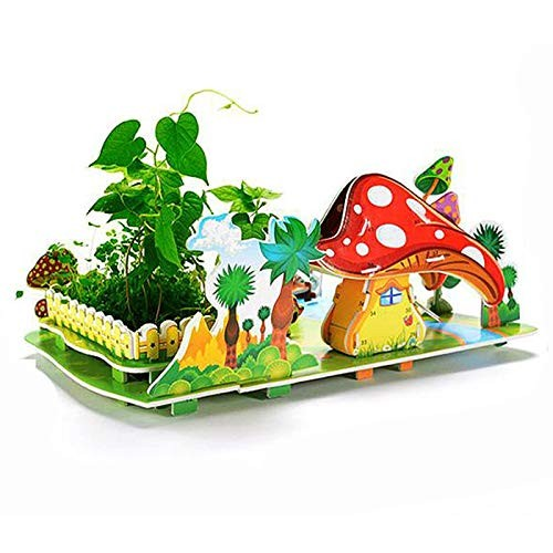 Jigsaw Puzzles Ecological Plants 3D Puzzle Series Delicate 3D Dollhouse Puzzles with Real Green