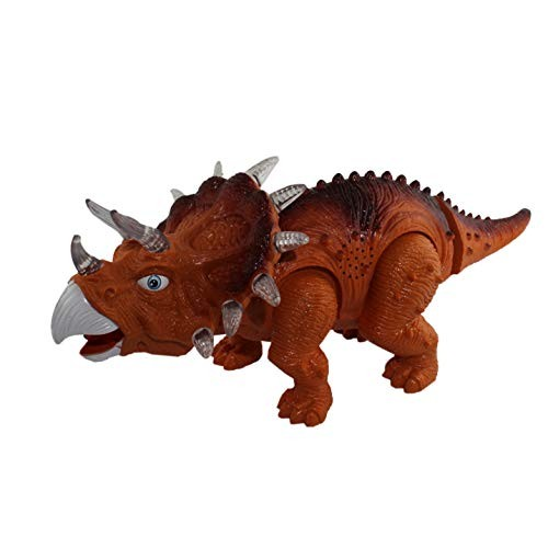 P&F Rhinoceros Dinosaur Triceratops Music Sounds Walking Light Up Toy