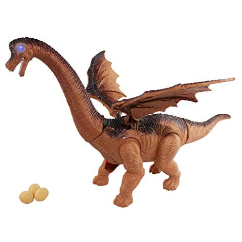 P&F Flying Wings Realistic Dinosaur Figure Brachimon Make Egg Sounds Walking Toy+ 3 Eggs