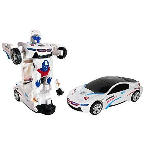 Plenty Prices Robot Racing Transform Cars for Boys Fun Toy Bump and Go Action Toys 2 in 1 Transforming with Flashing Lights Sounds Realistic Car Kids