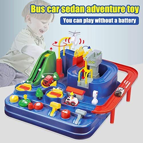 ALEXTREME RC Rail Car Toy Car Adventure Game Manipulative Rescues Squad Adventure Rail Car