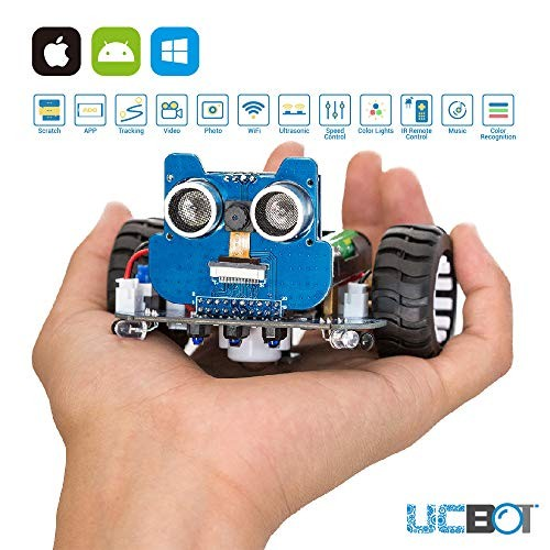 UCTRONICS Robot Kit with Camera RC Car for Kids and Teens to Build Electronics Programmable DIY Coding Robotics by Scratch 30 Arduino IDE