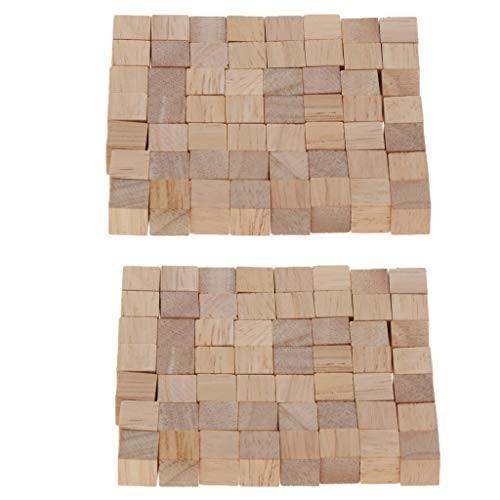 Toygogo Set of 200 Wooden Building Bricks Cubes Kids Toy Gift DIY Craft Carving
