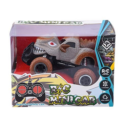 Dinosaur Toys Educational Toy Easy to Play Electric Remote Control Truck Cars for Boys Kids Girls Gifts Brown