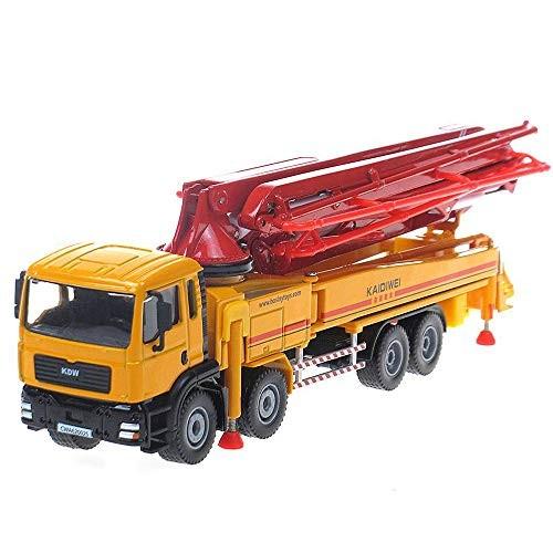 Tipmant Alloy Die-cast Vehicle Model Toy Diecast Engineering Concrete Pump Truck Car High Simulation Kids Gift 1 55 Orange