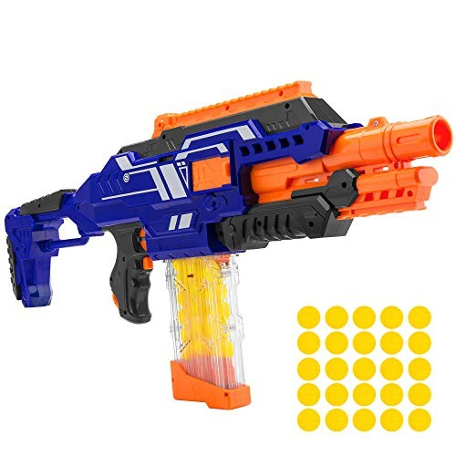 Best Choice Products Electric Motorized Soft Foam Ball Rapid Fire Blaster Toy w/Easy Access