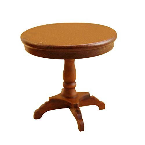 NarutoSak Doll House Accessories 1/12 Vintage Miniature Doll House Round Table Furniture DIY Bedroom