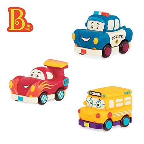 B Toys  Mini Wheee-Ls!  Toy Police Car Racecar & School Bus Set