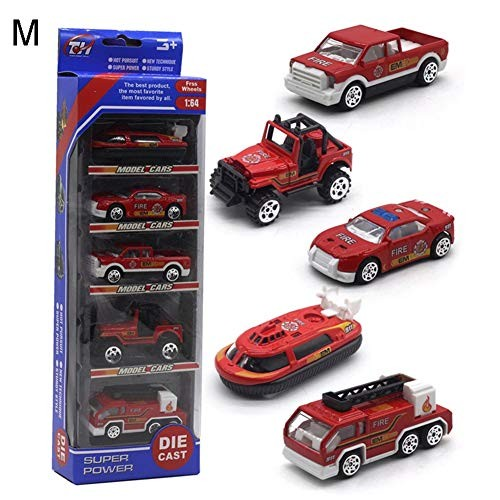 Foreen 5Pcs 1 64 Diecast Alloy Engineering Racing Car Vehicle Model Party Favor Gifts Toys for Kids Toddlers M