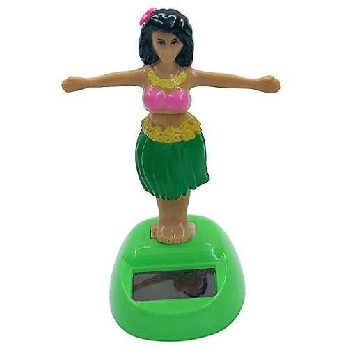joyMerit Dancing Hawaiian Solar Powered Hula Girl Bobble Head Plastic Toy Sun Catcher